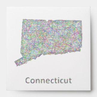 Connecticut map envelope