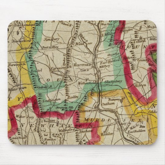 Connecticut Map Mouse Pad