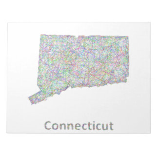 Connecticut map note pad