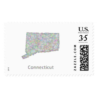 Connecticut map postage