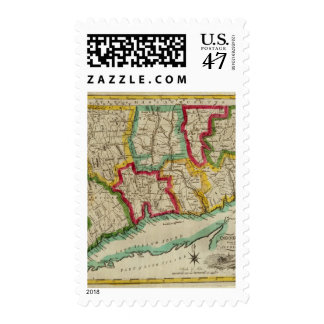 Connecticut Map Postage Stamp
