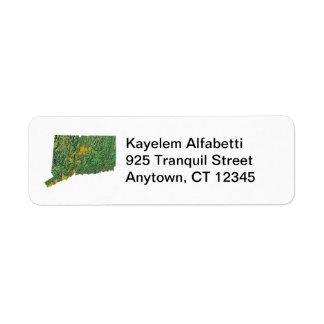 Connecticut Map Return Address Label