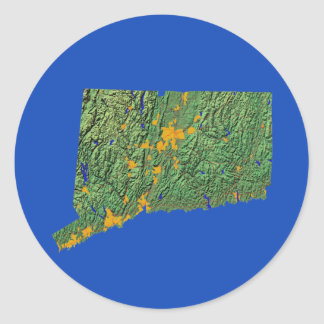 Connecticut Map Sticker