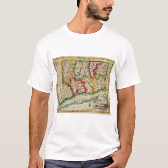 Connecticut Map T-Shirt