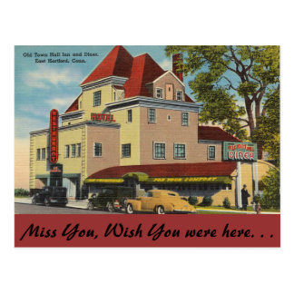 Connecticut, mesón de ayuntamiento tarjeta postal
