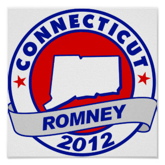 Connecticut Mitt Romney Posters