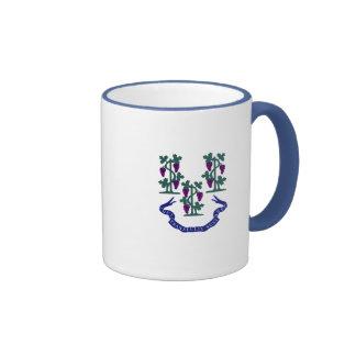 Connecticut Motto and Grape Vines Mug
