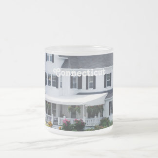 Connecticut Frosted Glass Mug