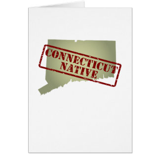 Connecticut Native Stamped on Map Greeting Card