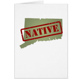 Connecticut Native with Connecticut Map Greeting Card
