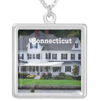 Connecticut Square Pendant Necklace