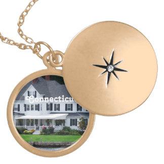 Connecticut Round Locket Necklace