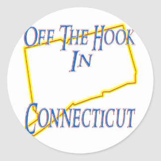 Connecticut - Off The Hook Classic Round Sticker