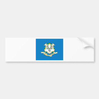 Connecticut  Official State Flag Bumper Sticker
