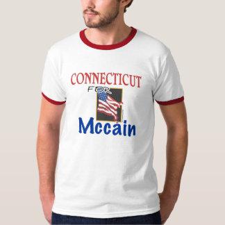 Connecticut para la camiseta de John McCain Playera