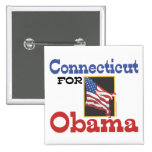 Connecticut para Obama Pins