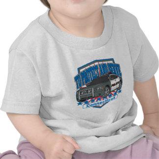 Connecticut para proteger y para servir el coche p camiseta