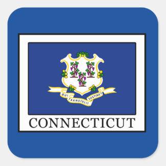 Connecticut Pegatina Cuadrada