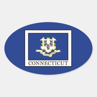 Connecticut Pegatina Ovalada