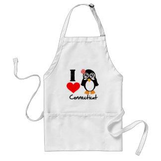 Connecticut Penguin - I Love Connecticut Adult Apron