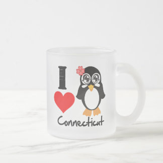Connecticut Penguin - I Love Connecticut Mugs