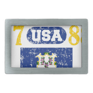 CONNECTICUT PERFECT TOGETHER DISTRESSED PRODUCTS BELT BUCKLE