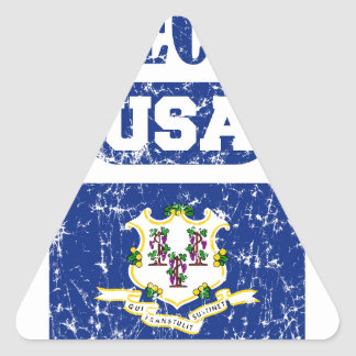 CONNECTICUT PERFECT TOGETHER DISTRESSED PRODUCTS TRIANGLE STICKER