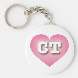 Connecticut Pink Fade Heart - Big Love Keychain