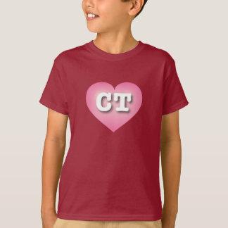 Connecticut pink fade heart - capital CT T-Shirt