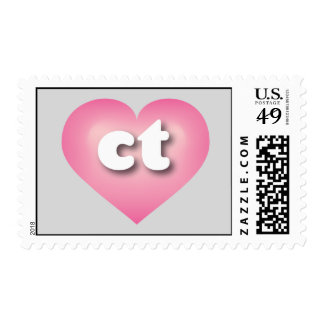 Connecticut pink fade heart - mini love postage