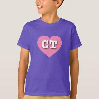 Connecticut pink heart - Big Love T-Shirt