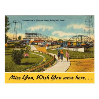Connecticut, Pleasure Beach, Bridgeport Postcard