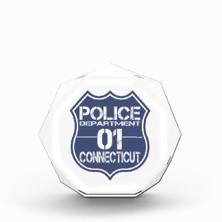 Connecticut Police Department Shield 01 Acrylic Award