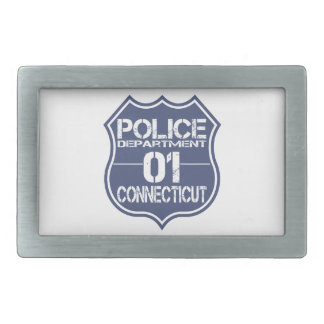 Connecticut Police Department Shield 01 Belt Buckle