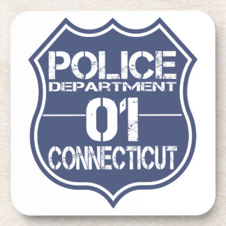 Connecticut Police Department Shield 01 Coaster