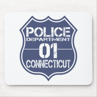 Connecticut Police Department Shield 01 Mouse Pad