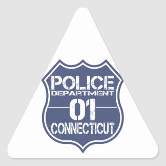 Connecticut Police Department Shield 01 Triangle Sticker