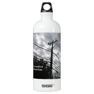Connecticut Powerlines Aluminum Water Bottle