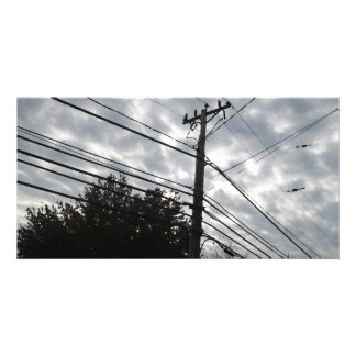 Connecticut Powerlines Photo Greeting Card