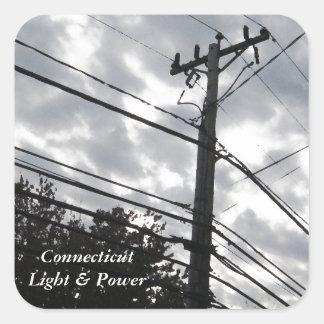 Connecticut Powerlines Square Sticker