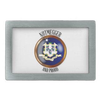 Connecticut Proud Flag Button Belt Buckle