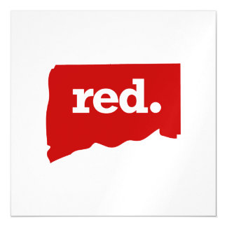 CONNECTICUT RED STATE MAGNETIC CARD
