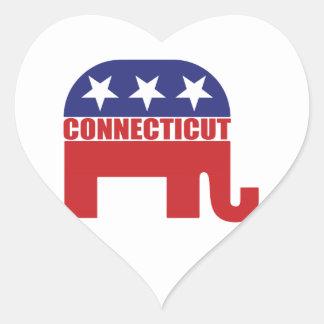 Connecticut Republican Elephant Heart Sticker