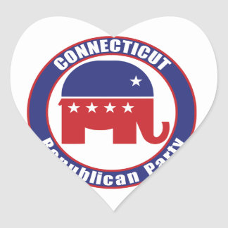 Connecticut Republican Party Heart Stickers