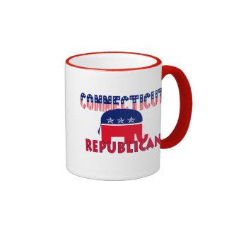 Connecticut Republican Ringer Coffee Mug