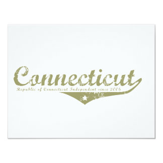 Connecticut Revolution T-shirts 4.25x5.5 Paper Invitation Card
