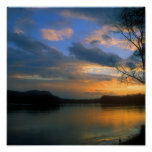 Connecticut River Oxbow Sunset Poster