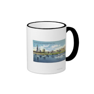 Connecticut River View of the Hartfort Skyline Mugs