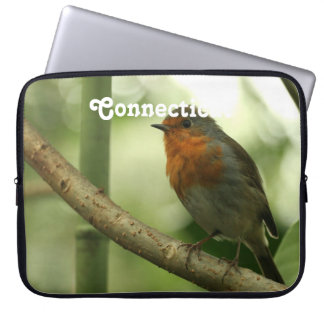 Connecticut Robin Computer Sleeves