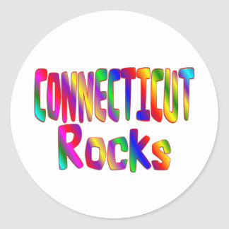 Connecticut Rocks Classic Round Sticker